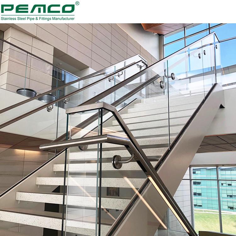 Top Manufacturer Deck Balustrade Handrails Aluminum Base Shoe Frameless Glass Balustrade Stair Glass Railing