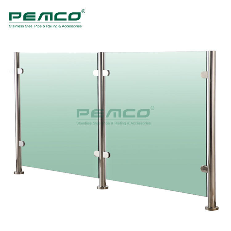 Balcony Post Balustrade Stainless Steel Glass Railing
