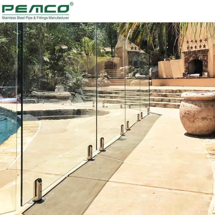 PJ-A514 Square Stainless Steel Spigot Glass Balustrade Railing