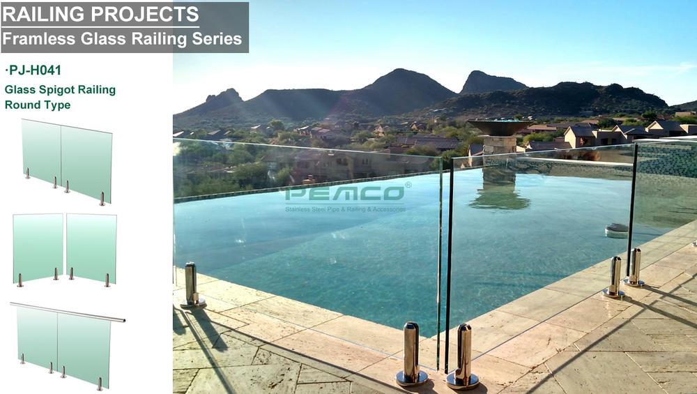 Glass Spigot Railing Design